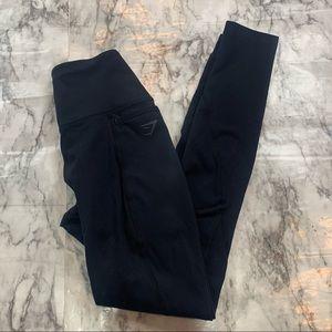 Gymshark Black Leggings Size XS Side Pockets Logo